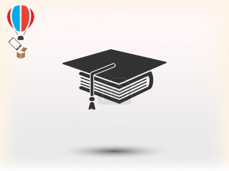 Book and student vector icon...