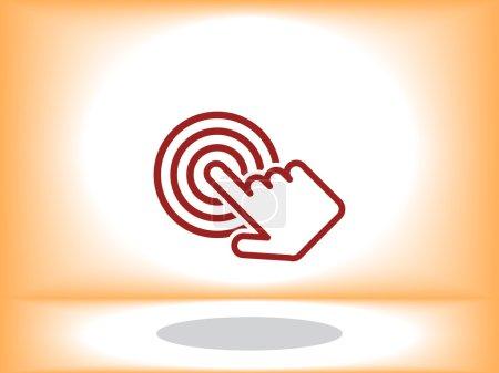Click hand icon ,vector illustration...