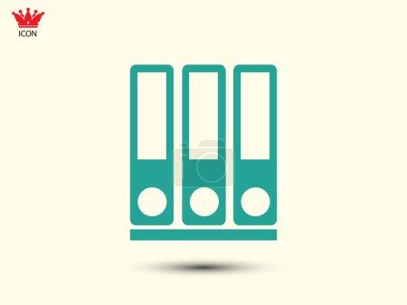 Illustration pour Ligne de liants icône vectoriel illustration - image libre de droit