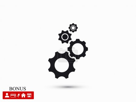 Illustration for Gears icon vector illustration - Royalty Free Image