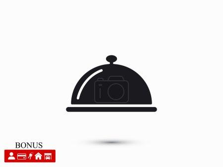 Illustration pour Icône cloche restaurant, illustration vectorielle - image libre de droit