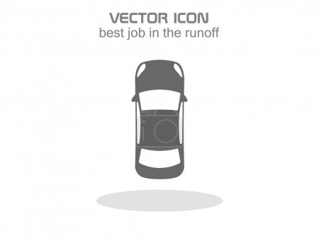 Illustration for Car top .vector icon 10 EPS - Royalty Free Image
