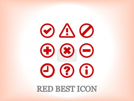 Information and notification icons, vector illustr...