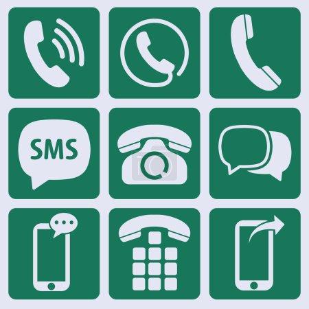 Illustration for Communication info icons set - Royalty Free Image