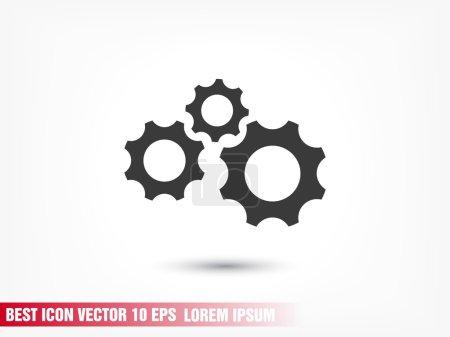 Illustration pour Illustration d'icône mécanisme engrenages - image libre de droit