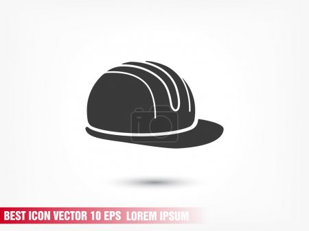 safety hard hat icon - black vector icon