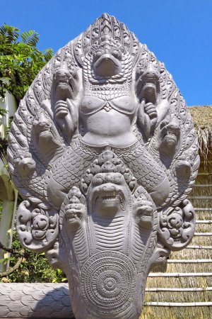 Garuda surrounded by serpent heads