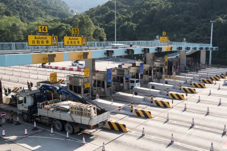 Tunnel Toll booths