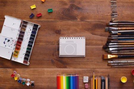 Desktop workplace designer, artist, painter
