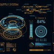 Futuristic user interface HUD and Infographic elements. Abstract virtual graphic touch user interface. UI hud infographic interface screen monitor radar set web elements