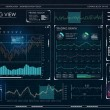 Futuristic user interface HUD and Infographic elem...