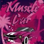 Постер, плакат: Muscle car Print for poster