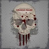 HIPSTER skull print for t-shirt