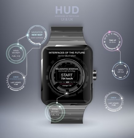 Smart watches with HUD UI