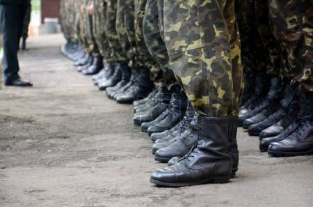 soldiers boots in army