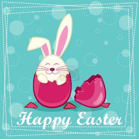 Illustration for Happy Rabbit in the egg in vector - Royalty Free Image