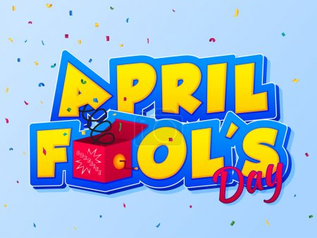 Illustration for April Fools Day lettering. - Royalty Free Image
