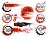 Black Friday sale Hand-drawn ink badges Traditional Japanese style Sale Tag Special offer