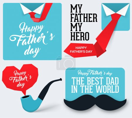 Happy Father's Day Collection. Greeting card for Father's Day.