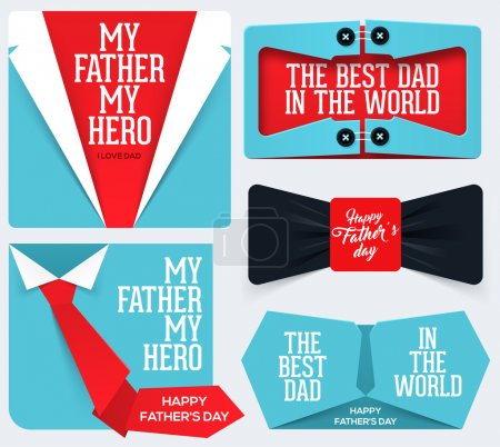 Illustration for Happy Father's Day Collection. Greeting card for Father's Day. - Royalty Free Image
