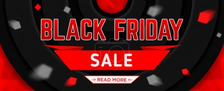 Black Friday sale design template. Black Friday web banner. Vector illustration