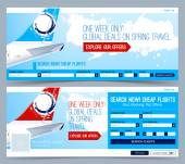 Booking tickets flight Template Search Flights Web Banner Header Layout Template Creative cover