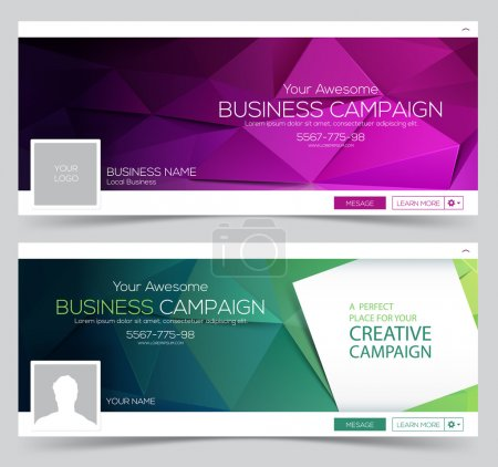 Illustration for Creative Header Layout Template for your Web-site. - Royalty Free Image