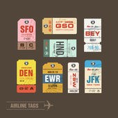 Airline tags Checklist for Travelers Vector