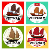 Collection of Vietnam junk boat Labels
