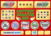 Lottery scratch off set With effect scratch marks Suitable for scratch card game and win For a lottery ticket Win game card