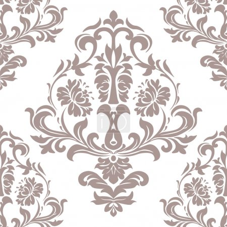 Vector Vintage Damask Pattern ornament in Classic style