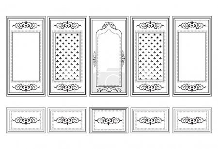 Decorative Ornamented frames for walls or backgrounds