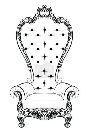 Baroque luxury style armchair furniture