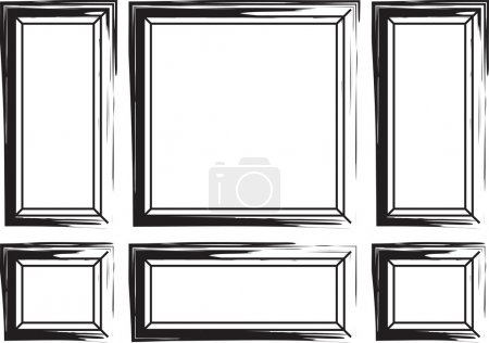 Decorative frames for walls or backgrounds