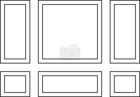 Decorative frames for walls or backgrounds