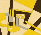 Abstract composition in yellow