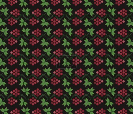 Traditional ornament pattern with grapes