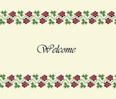Welcome traditional design background