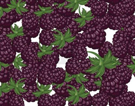 Blackberries dessert background