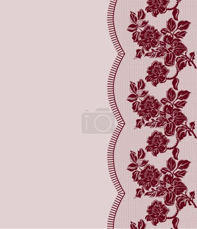 seamless dark red lace frame
