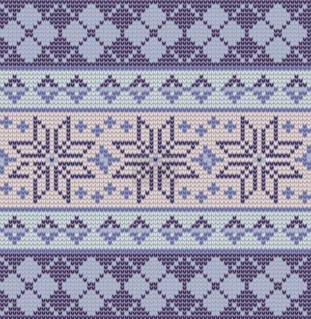 seamless blue fair isle pattern