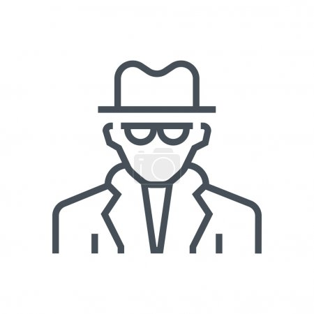 Illustration for Spy, detective icon suitable for info graphics, websites and print media and  interfaces. Line vector icon. - Royalty Free Image