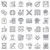 Game design icon set