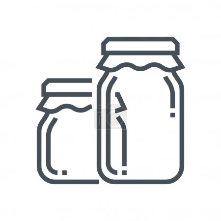 Illustration for Jar icon suitable for info graphics, websites and print media and  interfaces. Line vector icon. - Royalty Free Image