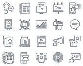 Advertisement marketing icon set
