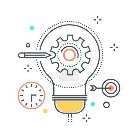 Illustration pour Conception de projet illustration, icône, arrière-plan et graphiques. L'illustration est colorée, plate, vectorielle, pixel parfait, adapté pour le web et l'impression. Ce sont des coups linéaires et des remplissages . - image libre de droit