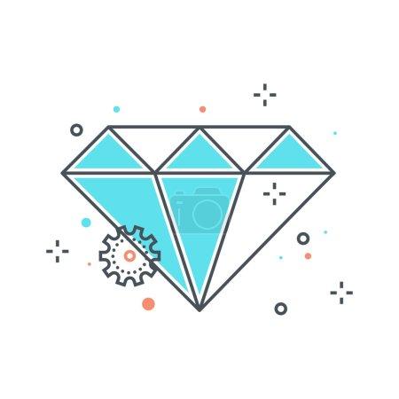 Color line, diamond illustration