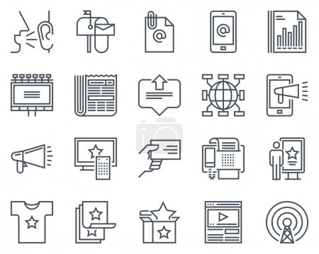 Advertisement, marketing icon set suitable for inf...