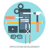 Application Development theme flat style minimal stylish color