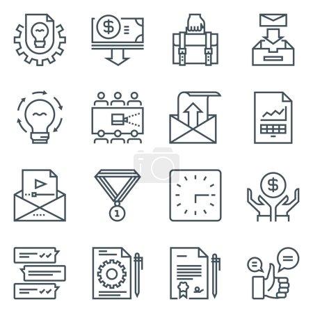 Project development icon set
